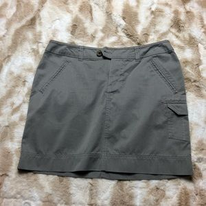 NWT Horny Toad Women 6 Gray Mini Skirt